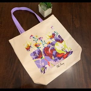 Old Navy Canvas Floral Print Tote